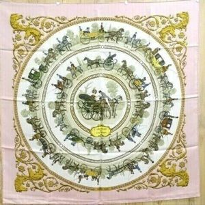 Hermes longchamp silk scarf 90 great Large